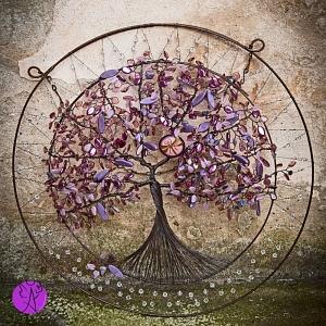 Drátovaný strom života - něžnost vážky 47 cm