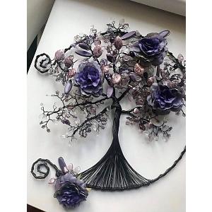 Drátovaný strom života otevřený - něžnost květů 30 cm