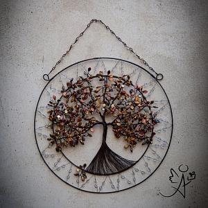 Drátovaný strom života - poklady ZE-MĚ 35 cm