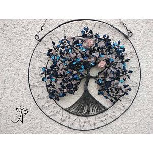 Drátovaný strom života - zesílení INTUICE 35 x 47 cm