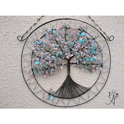 Drátovaný strom života - Dětská něžnost 36 x 46 cm.