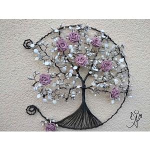 Drátovaný strom života otevřený - něžné pokušení 40 cm