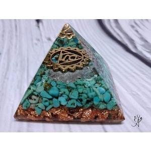 Orgonitová pyramida harmonizace 5. čakry se symbolem 4 x 4 cm