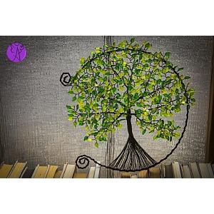 Drátovaný otevřený strom života - srdeční příval energie 30 cm