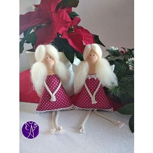 Andělka látková - vánoční čas