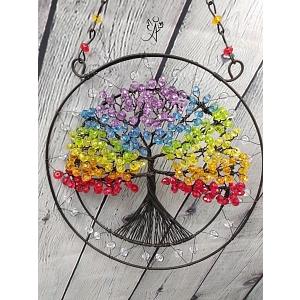 Drátovaný strom života - čakrový soulad 20 cm