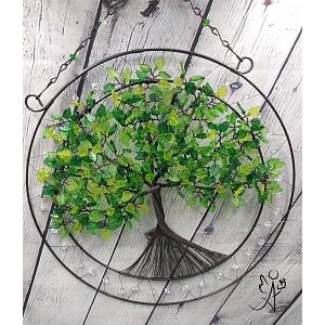 Drátovaný strom života - srdeční příval energie II.  30 cm